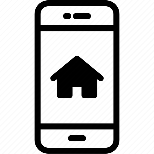 device, home, mobile, phone, smartphone icon