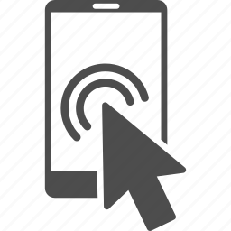 arrow pointer, double click, mobile, mouse cursor, smart phone, smartphone, telephone icon