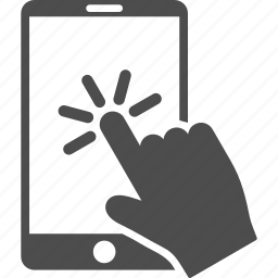 finger click, hand pointer, mobile device, screen, smart phone, smartphone, telephone icon