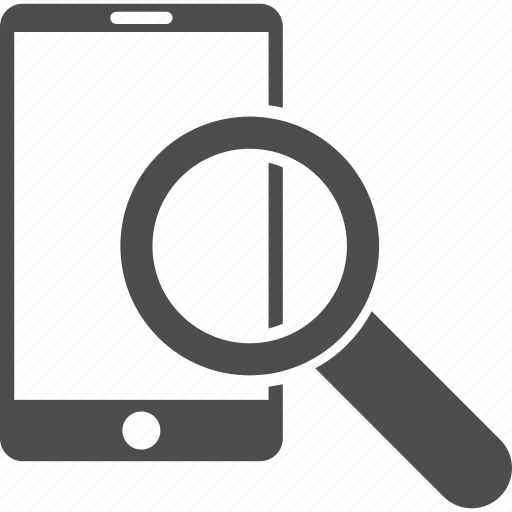 find tools, location, mobile phone, search, smartphone, telephone, zoom icon