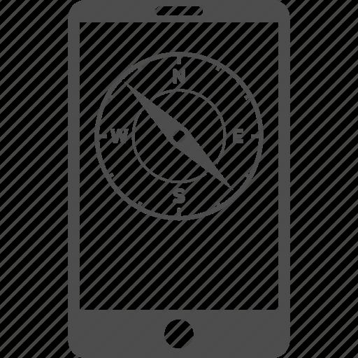 cellphone, compass, gps navigator, mobile phone, navigation, pda, telephone icon