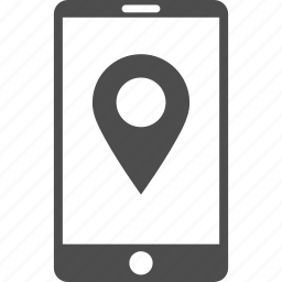 location, marker, mobile gps, navigation, point, pointer, telephone icon