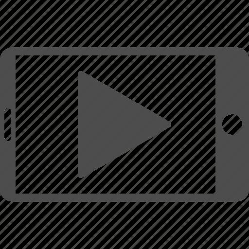 media player, mobile phone, movie, multimedia, play, start, telephone icon