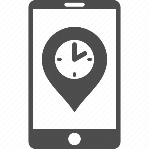 clock, measure, mobile phone, schedule, telephone, time pointer, timer icon