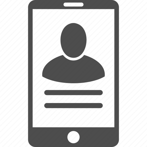 client profile, man, member, mobile phone, person account, telephone, user properties icon