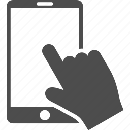 click, finger, mobile phone, screen, tap, touch, touchscreen icon