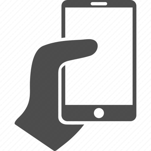 cellphone, hand, hold, mobile phone, palm, smartphone, telephone icon