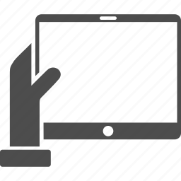 device, gadget, hand, holds, mobile tablet, palm, pda screen icon