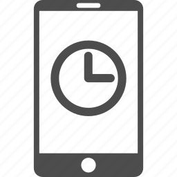 clock, measure, mobile phone, schedule, telephone, time, timer icon