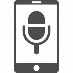 audio equipment, cell phone, microphone, mobile device, smartphone, sound, voice record icon