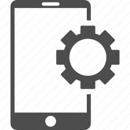 configuration, gear, mobile phone, service tools, settings, setup, telephone icon