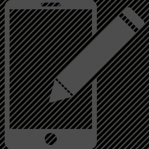 change, edit, mobile phone, pen, pencil, smartphone, write icon