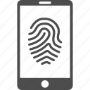 biometric identification, biometry, finger print, fingerprint, identity, smartphone, telephone icon