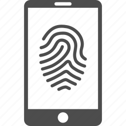 biometric identification, biometry, finger print, fingerprint, identity, smartphone, telephone icon