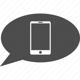 cell phone, cellphone, chat, communication, message, mobile device, smartphone icon