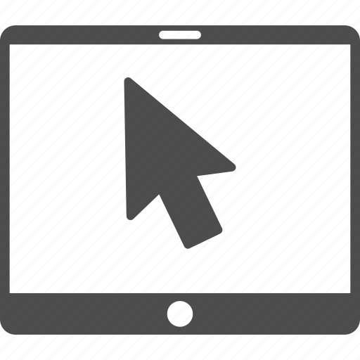 arrow pointer, electronic device, gadget, mobile tablet, pad screen, point, tab display icon