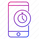 alarm, app, mobile, phone, reminder, smartphone, stopwatch icon