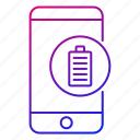 app, battery, mobile, phone, power, smartphone icon