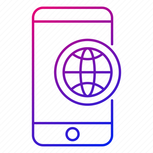 app, browser, internet, mobile, phone, smartphone, web icon