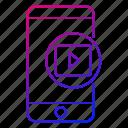 app, mobile, movies, phone, smartphone, videos icon