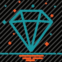 diamond, gem, jewelery, mineral, ruby, stone icon