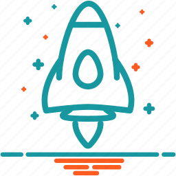 launch, rocket, shuttle, space, spacecraft, spaceship icon