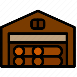 building, construction, deposit, tool, wood, work icon