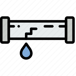 building, construction, leaking, pipe, tool, work icon