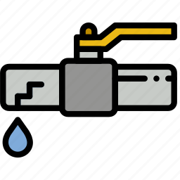 building, construction, leaking, tool, valve, work icon