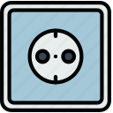 building, construction, eu, socket, tool, work icon