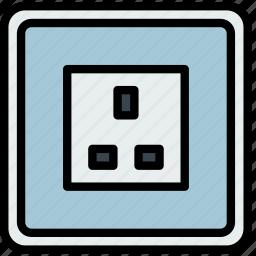 building, construction, socket, tool, uk, work icon