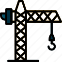 building, construction, crane, tool, work icon