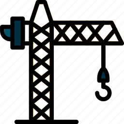 building, construction, crane, tool, work icon