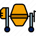 building, cement, construction, mixer, tool, work icon