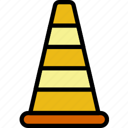 building, cone, construction, tool, traffic, work icon