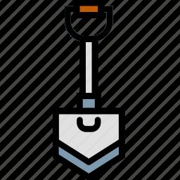 building, construction, shovel, tool, work icon