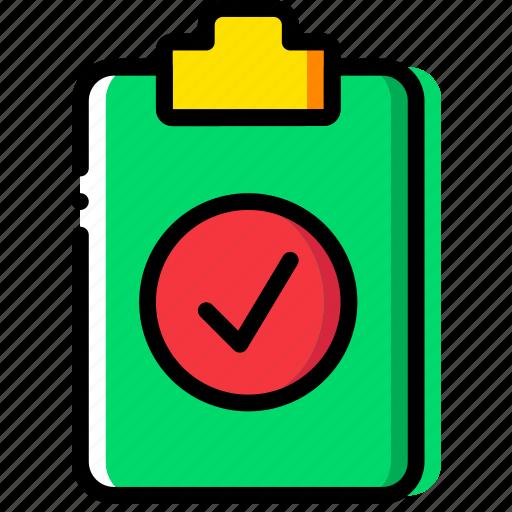 clipboard, document, file, folder, paper, success icon