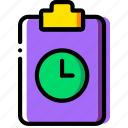 document, file, folder, for, paper, wait icon