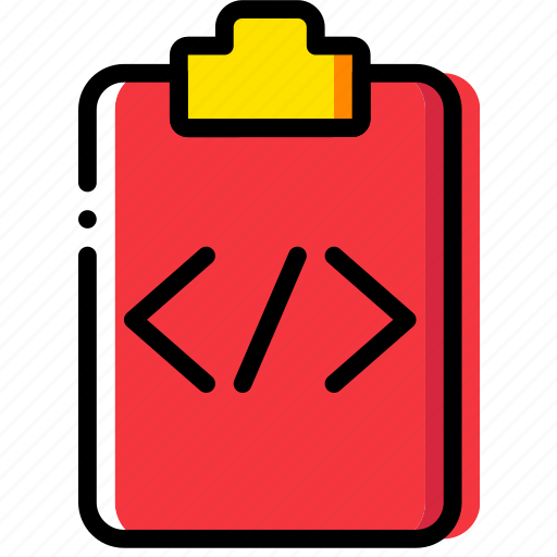 clipboard, code, document, file, folder, paper icon