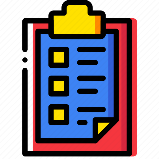 clipboard, document, file, folder, list, paper icon