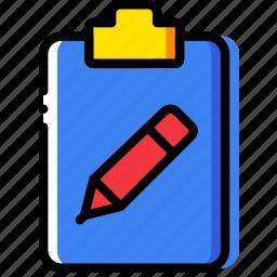 clipboard, document, edit, file, folder, paper icon