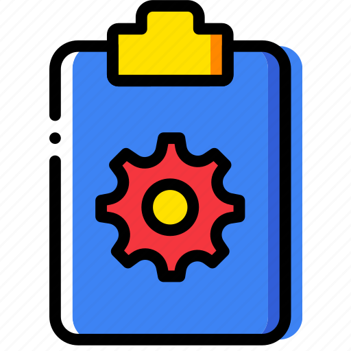 clipboard, document, file, folder, paper, settings icon