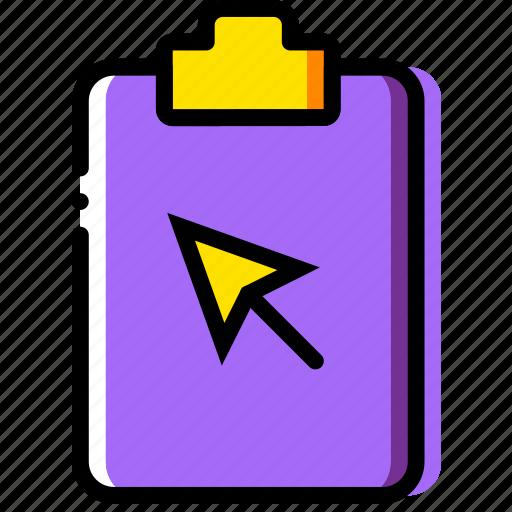 click, clipboard, document, file, folder, paper icon