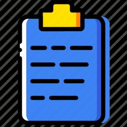clipboard, document, file, folder, paper icon