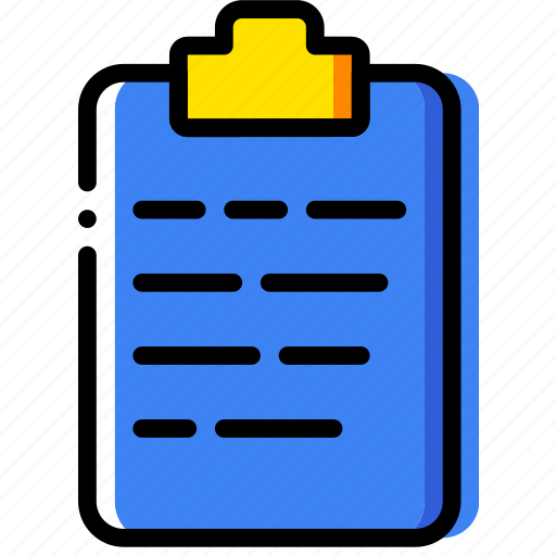clipboard, document, file, folder, paper icon