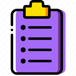 clipboard, document, file, folder, ordered, paper icon