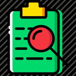 clipboard, document, file, folder, paper, search icon