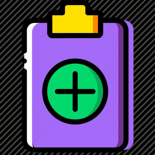 add, clipboard, document, file, folder, paper icon