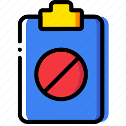 clipboard, document, file, folder, forbidden, paper icon