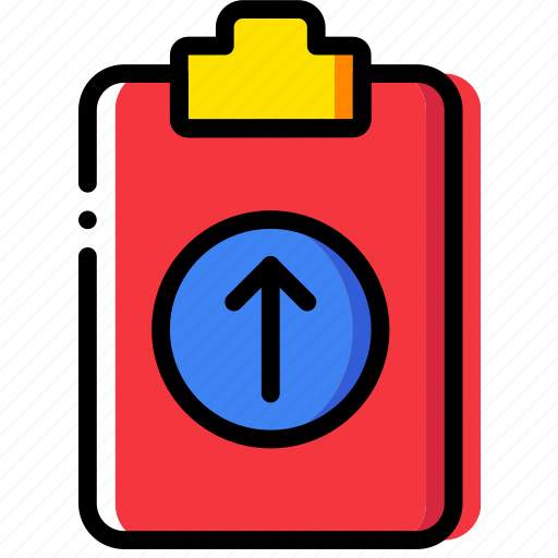 clipboard, document, file, folder, paper, upload icon